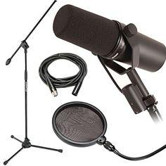 Shure SM7B Dynamic Vocal Mic w/ Mic Boom Stand, Pop Filte... https://www.amazon.com/dp/B0153NKJHM/ref=cm_sw_r_pi_dp_U_x_EegmAb09K1F06