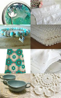 Blue Skies and White Clouds by Norma on Etsy--Pinned with TreasuryPin.com