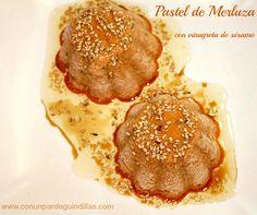 ¡Con un par de guindillas!: Pastel de merluza con vinagreta de sésamo. #RecetasSolidariasParaNavidad