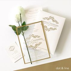 "924 Likes, 13 Comments - Wedding Card Ideas (ID) (@weddingcard) on Instagram: ""Beautiful wedding invitation in acrylic material with a gold lines. Design by @dotandlinedesigns go…"""