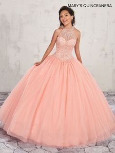 11073badc7d Beaded Halter Quinceanera Dress by Mary s Bridal Bridal-ABC Fashion.  Lucero s Fine Boutique