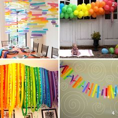 rainbow party decor