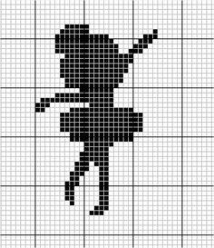 Gráfico Bailarina Ponto Cruz Pixel Crochet Blanket, Tapestry Crochet Patterns, Needlepoint Patterns, Quilt Patterns, Cross Stitching, Cross Stitch Embroidery, Cross Stitch Patterns, Hexagon Quilt Pattern, Pixel Image