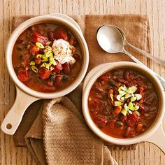 Slow Cooker Chili with Three Beans - FamilyCircle.com