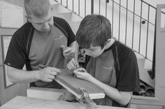 Father and son, working together at Benchwood Kitchens. www.benchwoodkitchens.co.uk