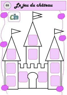 Encore une superbe réalisation de Patty73 de très belle facture pour le jeu du château, pour travailler le son [ch]. Un énorme merci à elle Le château   Le jeu du Serpent La route La maison La gale Fairy Tale Crafts, Prince And Princess, Art Activities, Fairy Tales, Sons, Education, Math, Cycle 1, Château Fort