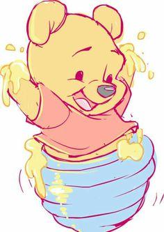 Winnie the Pooh Fan Art - Disney Fan Art - Disney Winnie The Pooh, Winnie The Pooh Drawing, Winne The Pooh, Wallpaper Iphone Disney, Cute Disney Wallpaper, Cute Cartoon Wallpapers, Trendy Wallpaper, Cute Disney Drawings, Cartoon Drawings