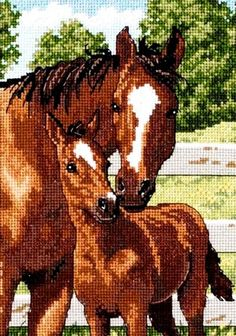 Dimensions Gold Counted #crossstitch MOTHER'S PRIDE ♥ #new #ebay #sale #animals #horse #gift #decor #DIY #project #handcraft #handmade #needlework #stitching