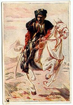 P. Pokarzevski: Kurd riding on Horse, 1920.