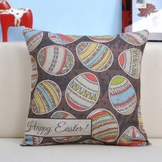 复活节大耳兔可爱靠垫抱枕套办公室沙发创意卡通动漫含芯定制包邮