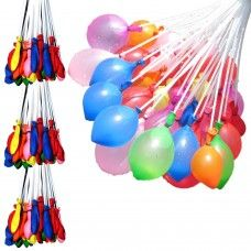 Spending quality time with the family is what's important. Magic balloons takes all the hassle of preparing for a water fight and let you just enjoy the fun  * 3 Hose attachment fills 100 water balloons in seconds  * Fills all of the balloons at the same time  * Each balloon is already tied to save time and effort  * Arrives ready to use; no preparation necessary  * Great for water balloon wars and general outdoor fun.