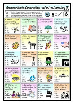 Grammar Meets Conversation: A, an, the, some, any (6) - Asking questions