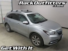Acura MDX Thule SILVER AeroBlade EDGE Roof Rack System '14-'16