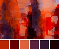 orange burgundy, purple