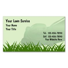 Lawn Care Business Card | Business, Lawn care and Lawn care business