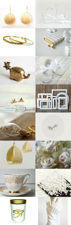 Gold and white wedding by SenasNaujas on Etsy--Pinned with TreasuryPin.com