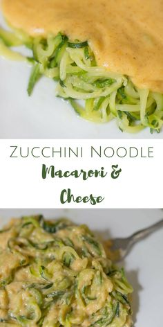 A delicious healthy recipe that the whole family (kids AND adults) will love! This is zucchini noodle (aka zoodle) macaroni and cheese and it is out of this world delicious! Zucchini Noodle Recipes, Keto Mac And Cheese, Vegan Cheese, Macaroni And Cheese, Zucchini Cheese, Mac Cheese, Cheese Recipes, Crab Recipes, Healthy Cooking