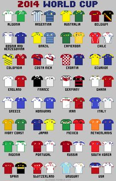 8-Bit FIFA World Cup 2014Posters available @Redbubble Created byAl Creed