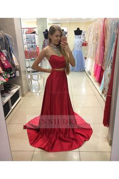 Prom Dress Princess, New Arrival red two pieces sequin long prom dress, red evening dress, Shop ball gown prom dresses and gowns and become a princess on prom night. prom ball gowns in every size, from juniors to plus size. Red Satin Prom Dress, Prom Dresses Two Piece, Sequin Prom Dresses, Prom Dresses 2017, Long Prom Gowns, A Line Prom Dresses, Quinceanera Dresses, Sexy Dresses, Dress Red