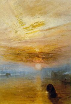 JMW Turner - Fighting Temeraire (detail)