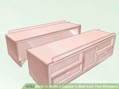 Image titled Build a Captain's Bed from Two Dressers Step 5