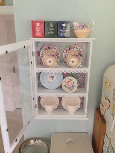 Vintage china in little cupboard @djbowler0401
