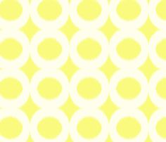 sun cream circle ikat fabric by domesticate on Spoonflower - custom fabric