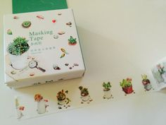 Cactus Boxed Washi Tape by GoatGirlMH on Etsy