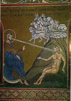Adam empfängt den Lebensodem Monreale Sizilien Kathedrale Creation Byzantinisches Mosaik