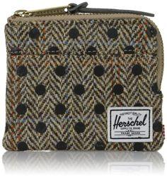 Herschel Supply Co. Men's Johnny Tweed Wallet, black Polka, One Size