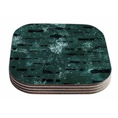 East Urban Home Tex Mix by Iris Lehnhardt Coaster Color: Jade