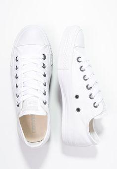 Converse CHUCK TAYLOR ALL STAR - Matalavartiset tennarit - white monochrome - Zalando.fi