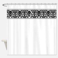 Black Damask Shower Curtain for