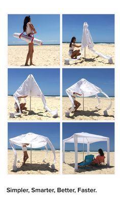 CoolCabanas Beach Cabana, Beach Tent, Beach Umbrella, Beach Camping, Beach Shade, Packing List Beach, Beach Hacks, Vie Motivation, Parasols