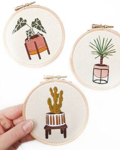 Beginner Embroidery Kit The Mini Series Modern Embroidery Modern Embroidery, Embroidery Patterns, Hand Embroidery, Birthday Present For Husband, Calico Fabric, Types Of Stitches, Presents For Boyfriend, Embroidery For Beginners, Gifts For Mum