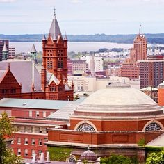 The #SyracuseU campus from above.