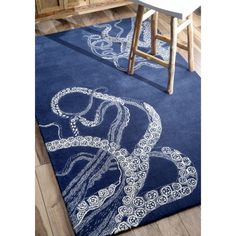 nuLOOM Handmade Octopus Tail Faux Silk/ Wool Rug (5' x 8') | Overstock.com Shopping - Great Deals on Nuloom 5x8 - 6x9 Rugs