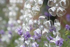 blossoms made of soda bottles