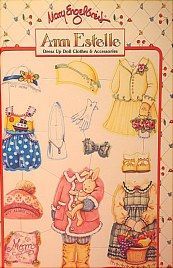 Paper doll clothes for Ann Estelle sold in BOOKS on website http://barbspencerdolls.com