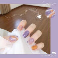 Korean Nail Art, Korean Nails, Purple Nails, K Beauty, Beautiful Nail Art, Manicure, Nail Designs, Makeup, Skincare