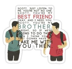 Scott and Stiles Brothers Sticker