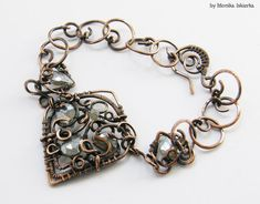 Hey, I found this really awesome Etsy listing at https://www.etsy.com/uk/listing/158740617/vanora-wire-wrapped-bracelet-with