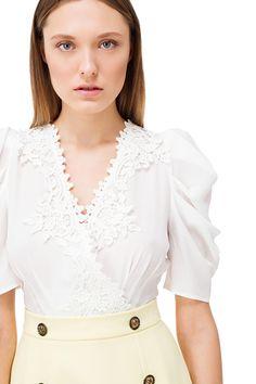 Two-tone mini dress - Elisabetta Franchi Mini, Ruffle Blouse, Boutique, Shopping, Collection, Tops, Dresses, Women, Fashion
