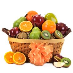 Goodness Fruit Basket - Gourmet Gift Baskets For All Occasions Gourmet Gift Baskets, Gourmet Gifts, Red Pear, Red Apple, Flower Words, Fruit Gifts, Variety Of Fruits, Flowers For You, Fruit In Season
