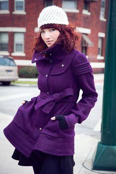 Eggplant Wool Luxe Coat/Jacket YellowCakeShop