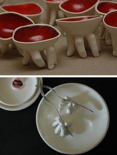 clay/porcelain sculptures by Israeli artist RONIT BARANGA