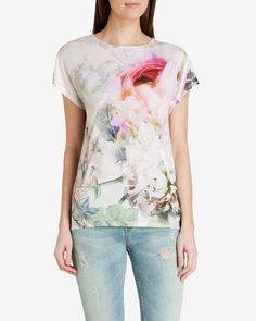 Pure peony T-shirt - Dusky Pink   Outlet   Ted Baker UK