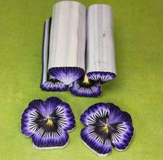 Polymer Clay Cane Kit, Pansy Flower, set of 4 Canes -'Jardin de Fleurs' (RR) by ikandiclay on Etsy https://www.etsy.com/uk/listing/609007779/polymer-clay-cane-kit-pansy-flower-set