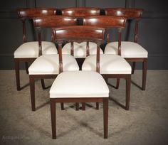 Set Of 6 William IV Mahogany Bar Back Dining Chair - Antiques Atlas