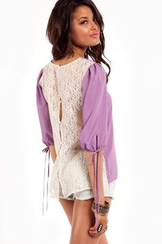 back it up laced blouse